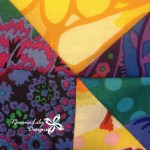 Giant Flying Geese Using Layer Cakes   Quilting Pattern   Jen Eskridge   ReannaLily Designs   ReannaLily Quilts   Kaffe Fassett