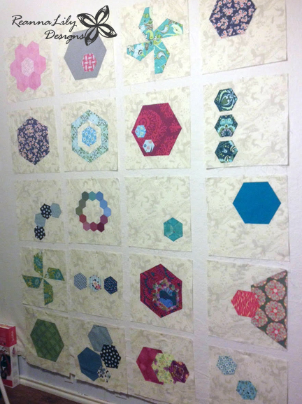 Hexagons Made Easy | Sampler Quilt | Jen Eskridge | ReannaLily Designs