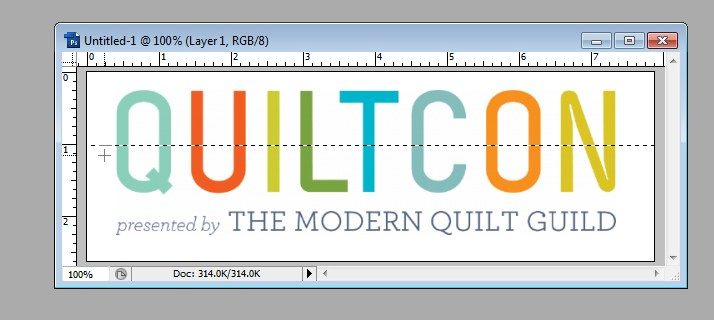 QuiltCon Block Entry 2 – How To Make Stripes in Photoshop CS3