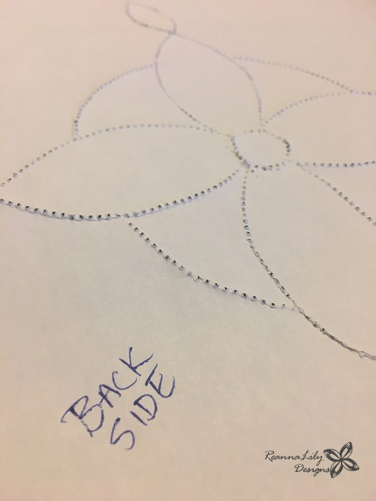 Make Custom Quilting and Sewing Stencils with a tracing wheel, paper, and pounce chalk pad | Jen Eskridge | ReannaLily Designs