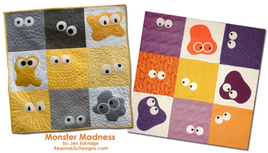 Monster Madness Quilt Pattern | Jen Eskridge | ReannaLily Designs