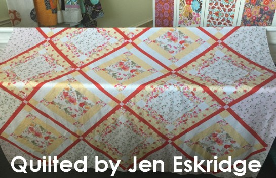 Nested 9-Patch longarm quilted by Jen Eskridge | ReannaLily Designs | ReannaLily Quilts | Nancy Zieman