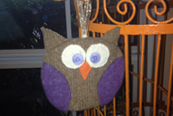 Small Sewn Gift Owl Ornament