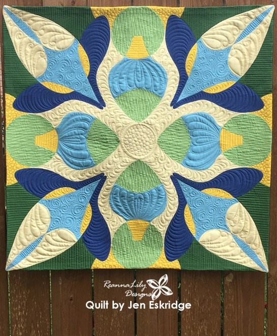 Free-Motion Framework Quilt Panel from Jen Eskridge | ReannaLily Designs | Spoonflower