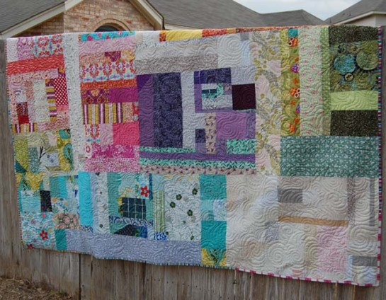 Free Motion Quilting | Scrap Quilt | ReannaLily Designs