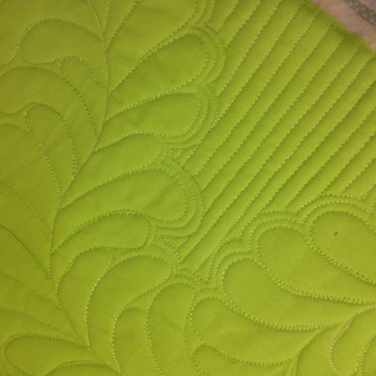 Free Motion Quilted Feathers Reannalily Designs