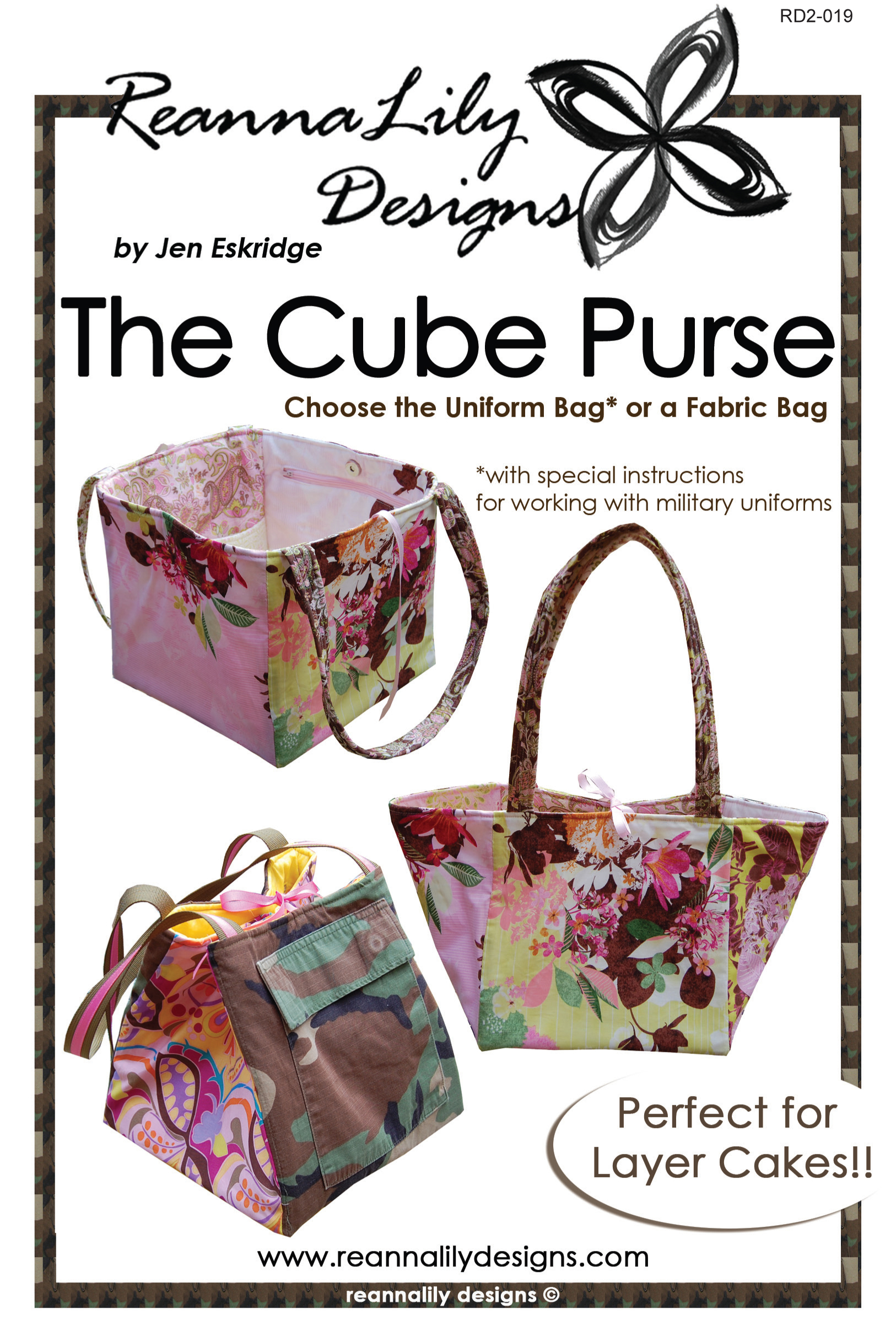The Cube Purse Paper Pattern