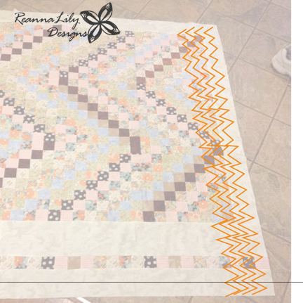 Free Motion Quilt Ideas | Scrappy Trip Along | ReannaLily Designs