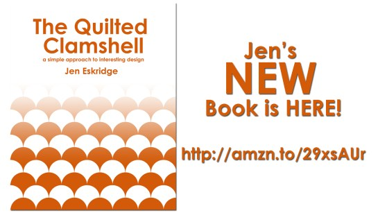 The Quilted Clamshell by Jen Eskridge | Clamshell Quilt Panels from Spoonflower
