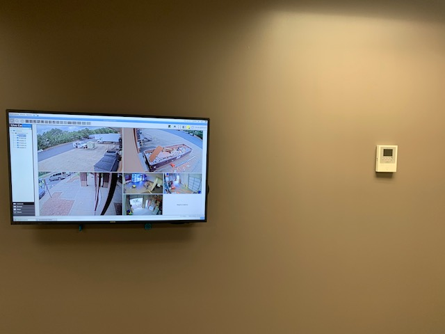 tv on wall viewing camers