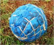 Young boys have developed the art of making footballs out of plastic bags. This is how many of the African stars started and developed their football skills