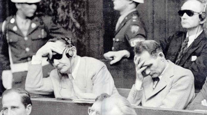 Nuremberg Trial sentencing photograph