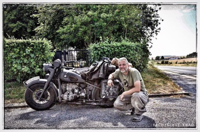German Paratrooper BMW Motorbike