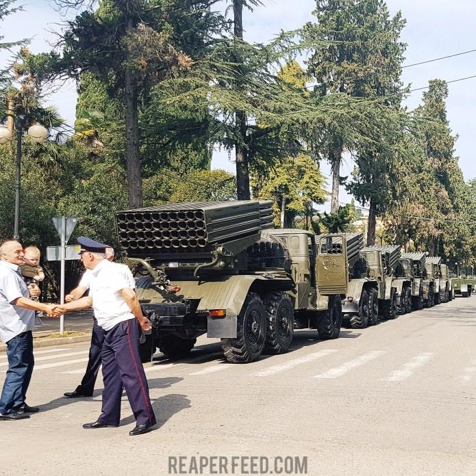 Grad rocket Abkhazia