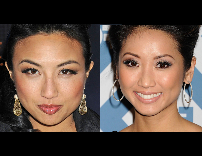 Jeannie Mai (left, at Mercedes Benz Fashion Week, photo credit: Style Bistro) and Brenda Song (right, photo credit: Twist Magazine)