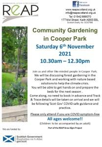 Community Gardening in Cooper Park @ Cooper Park, Elgin