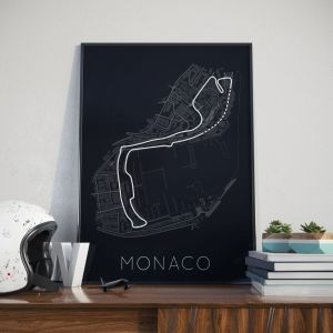 Monaco Print 1 White Helmet Lifestyle – Rear View Prints