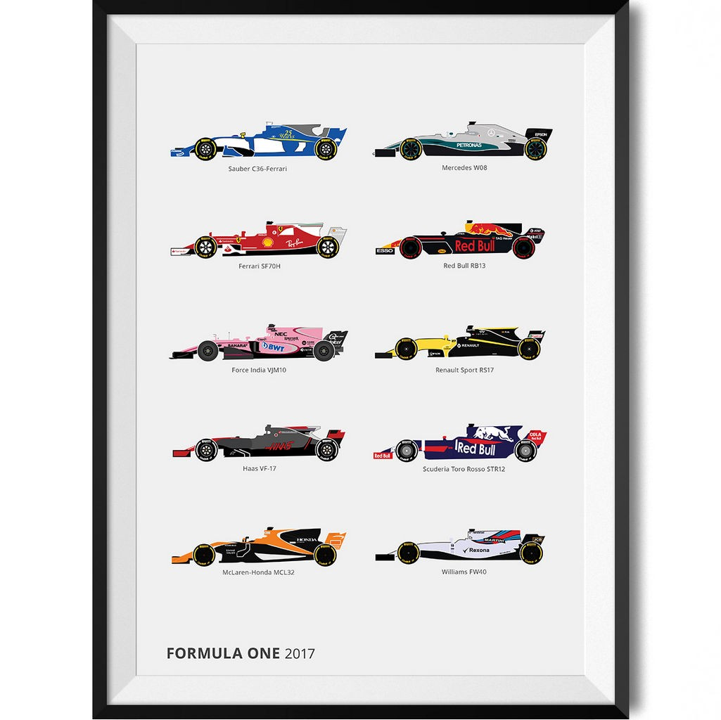 Uncategorized Car Pictures To Print formula one 2017 car print rear view prints