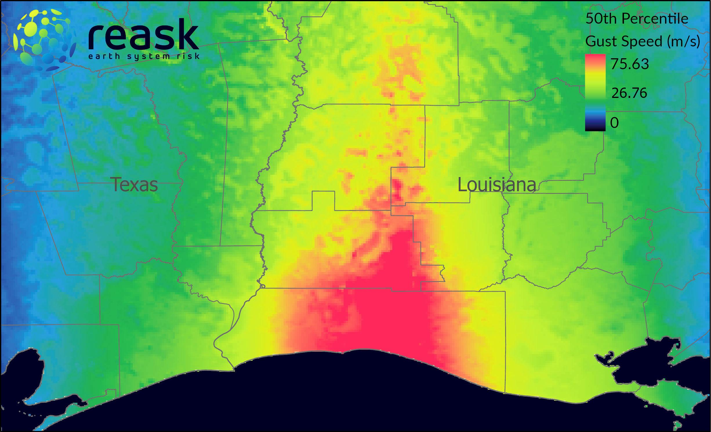 HindCyc: Immediate Post-Landfall Probabilistic Gust Estimates