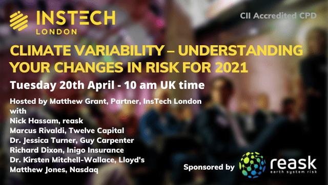 Online Event: Climate Variability – Understanding Your Changes in Risk for 2021