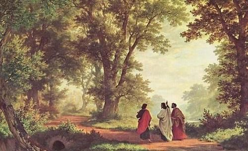 Road to Emmaus, Robert Zund