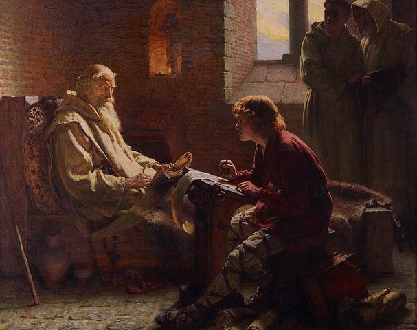 St_Bede_Translates_John_Gospel