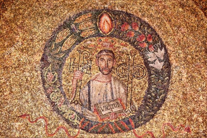 st-victor-5th-century-mosaic-s-vittore-in-ciel-doro-chapel-sant-ambrogio-EG23WP