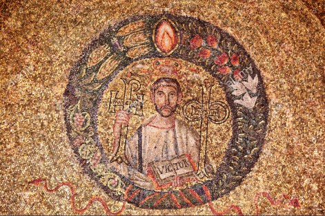 Saint Victor Maurus, 5th Century mosaic