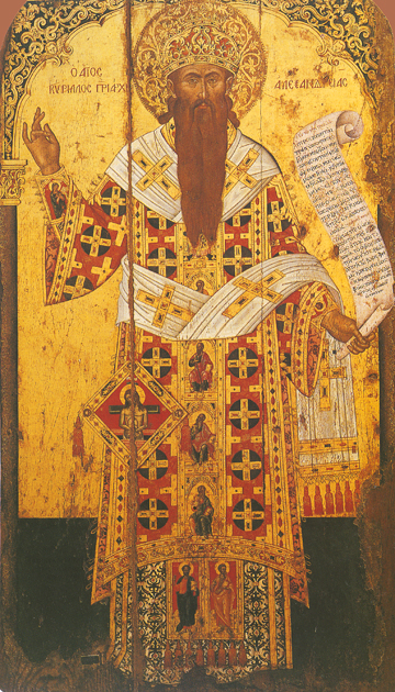 Icon of St Cyril of Alexandria