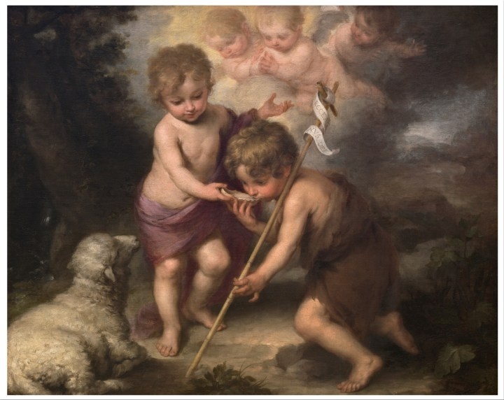 The Infant Christ and Saint John the Baptist with a Shell - Murillo