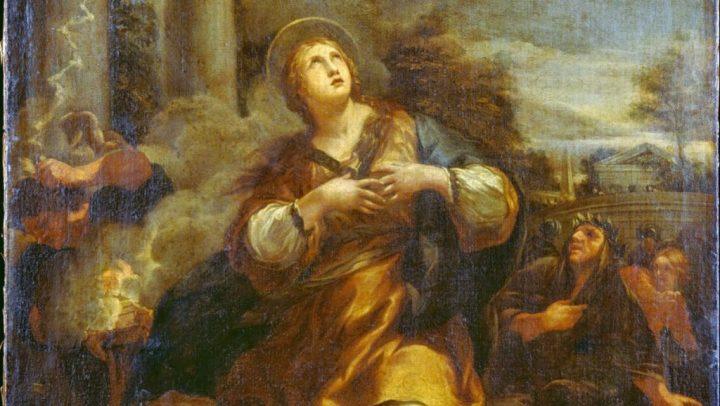 Saint Martina Refuses to Adore the Idols by Pietro Berrettini