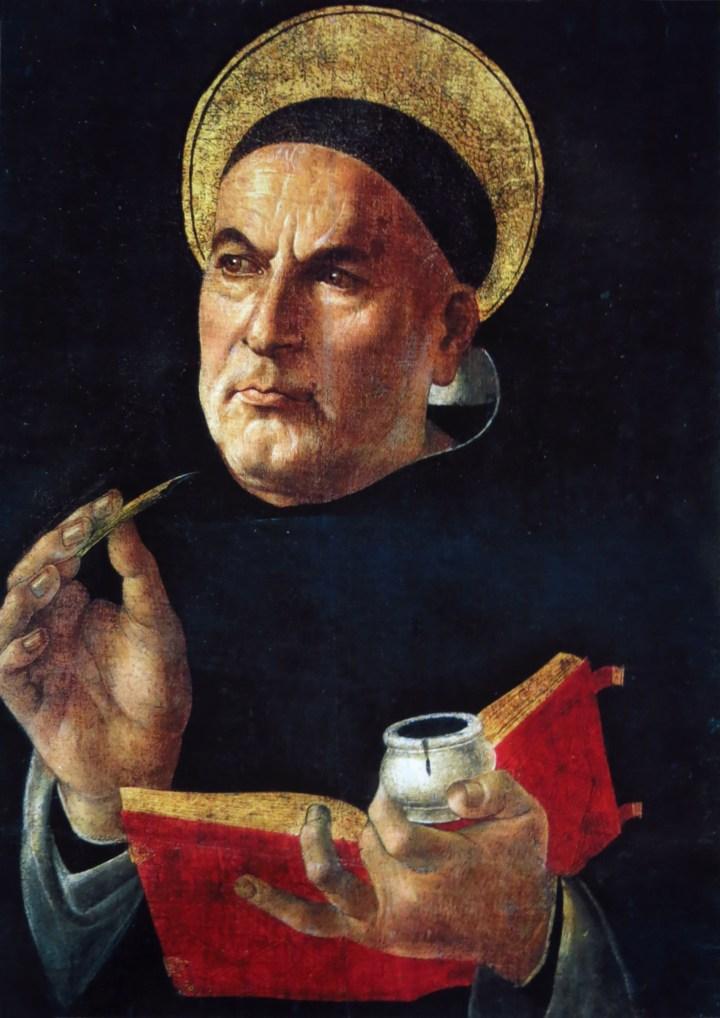 St Thomas Aquinas by Sandro Botticelli (1444-1510)