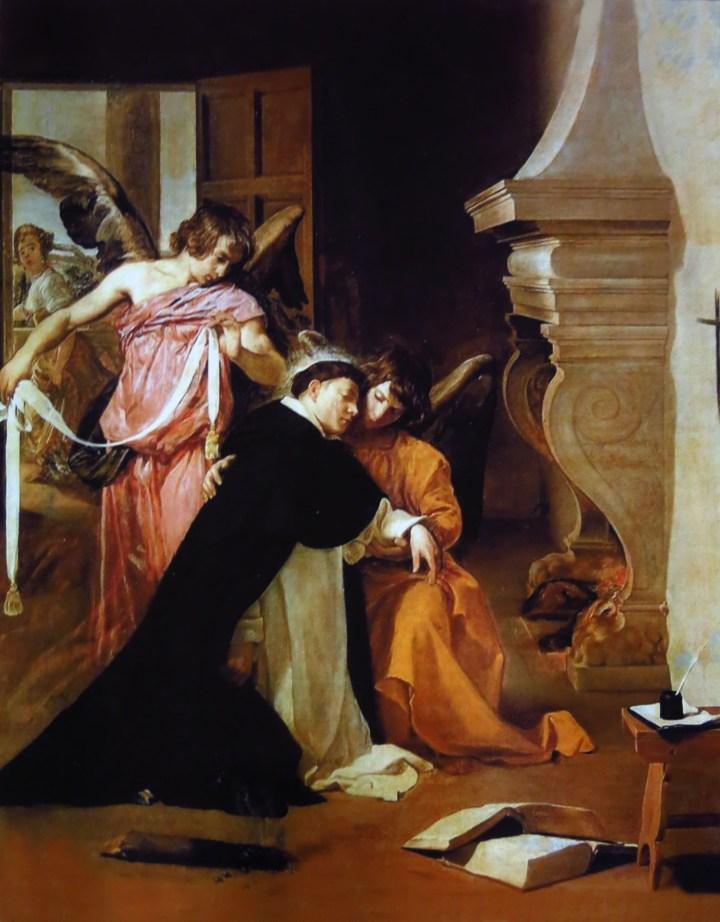Temptation of St. Thomas by Diego Velazquez (1599-1660)