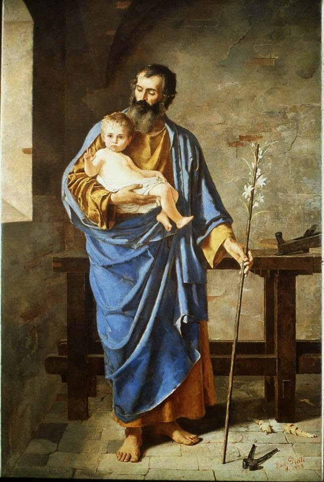 saint joseph the worker with child jesus