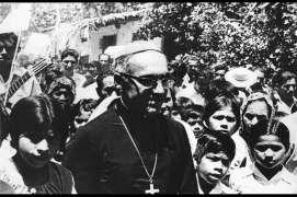 Romero with children