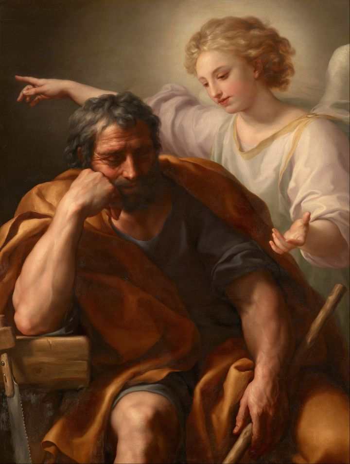 The Dream of St Joseph by Anton Raphael Mengs, 1728-1779