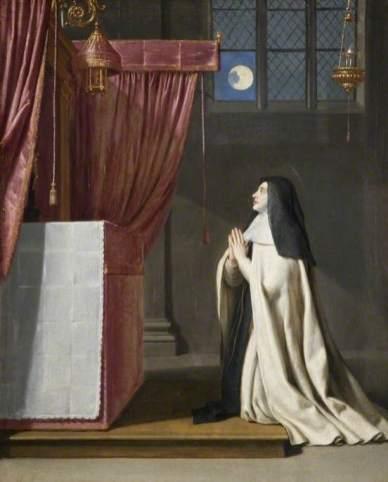 de Champaigne, Philippe; The Vision of Saint Juliana of Mont Cornillon; The Barber Institute of Fine Arts; http://www.artuk.org/artworks/the-vision-of-saint-juliana-of-mont-cornillon-33161