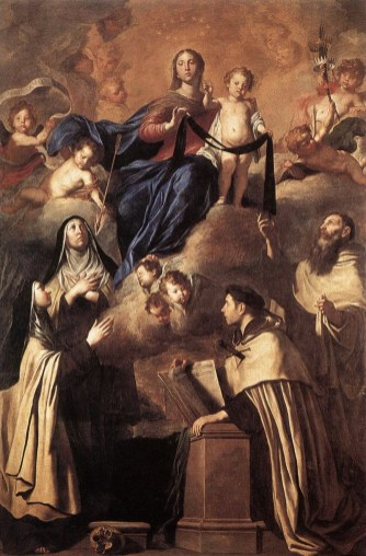 Pietro Novelli, Our Lady of Carmel and Saints
