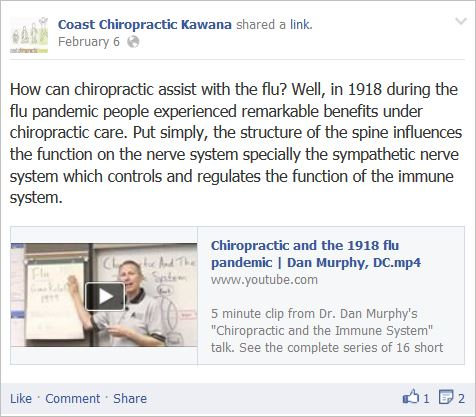 Postles 3 chiropractic assisted in the 1918 flu pandemic