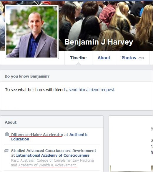 Benjamin Harvey Facebook profile Difference Maker Accelerator
