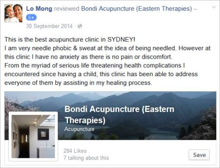 Mong 35 review sister Bondi Acupuncture Fb page Huong Lau