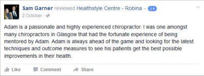 Adam L Smith 16 Healthstyle Centre testimonial