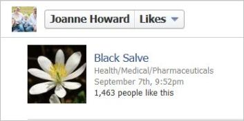Howard 2 likes Black Salve