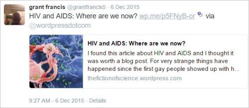 Gfrancis 5 HIV AIDS denialism