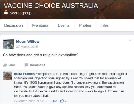 Gregg 41 VCA March 27 2015 religious exemption OP