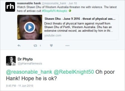 Brett Smith 303 Dhu threat video tweet poor hank