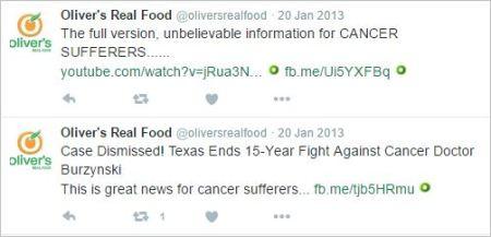 Olivers 30 Burzynski tweets