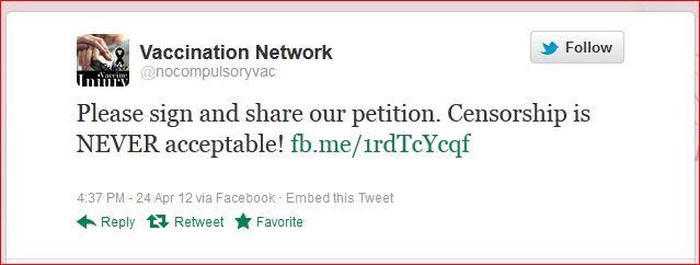 AVN 4869 Dorey tweet censorship is never acceptable