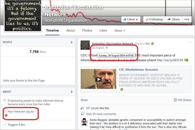AVN 6857 Facebook page timestamp same