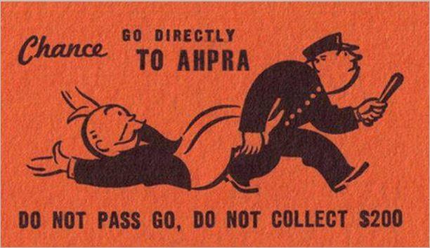 AHPRA RED CARD_GO DIRECTLY TO AHPRA